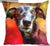 Greyhound Dog Cushion