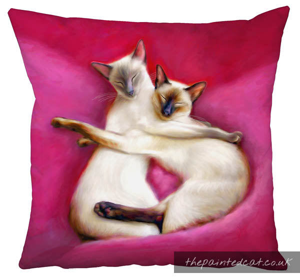 Sugar Plum Fairies Siamese Cat Cushion