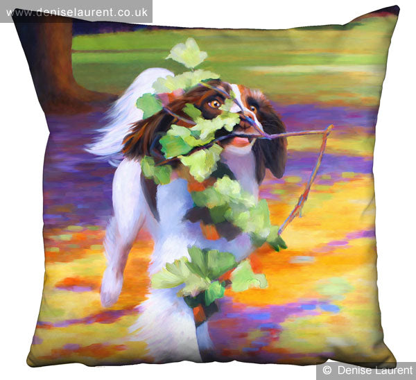 High Speed Gardening Spaniel Dog Cushion