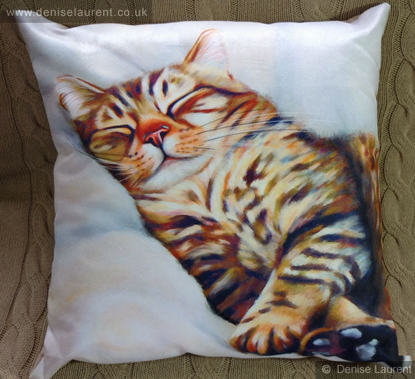 After The Hunt Tabby Cat Cushion