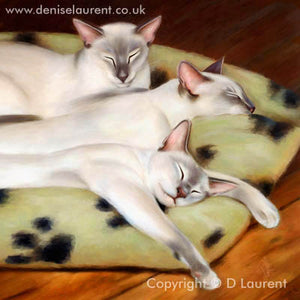 "The Cushion Testers - 16""x16"" Acrylic Painting"