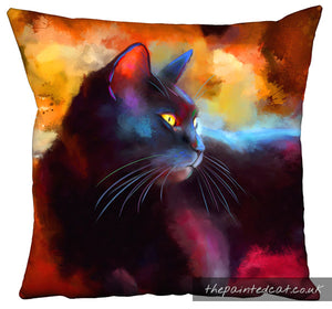 Day Dreamer Black Cat Cushion