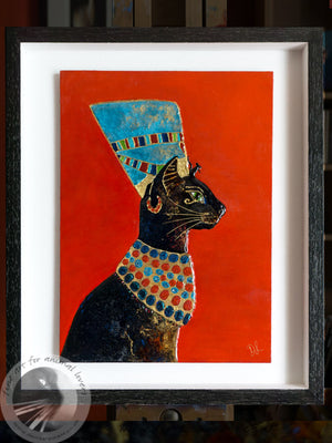 Jetneret - An Egyptian Cat Painting