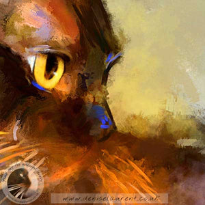 whiskers detail of burmese cat art print