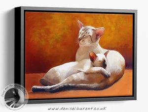 Father and Daughter - Siamese Cat Print