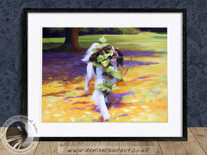 High Speed Gardening - Springer Spaniel Dog Print