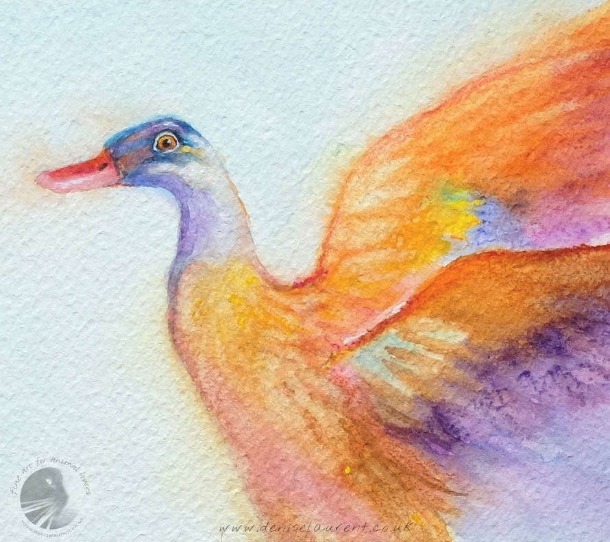 "Indian Runner Duck - 15x11"" Watercolour Painting"