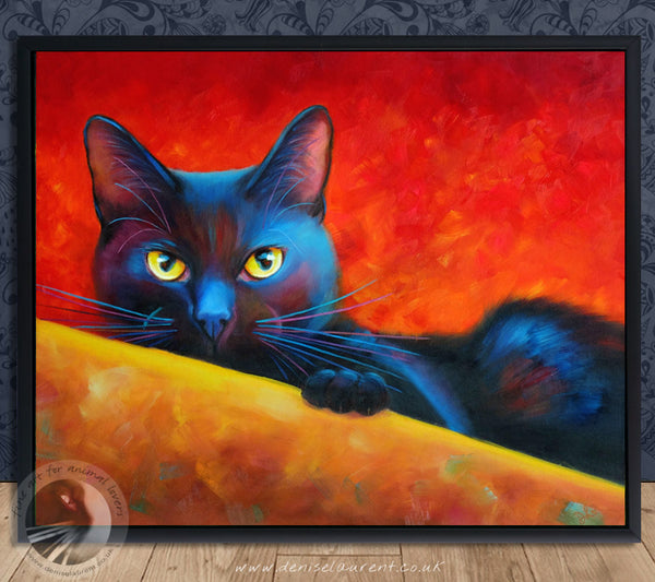 "I've Got My Eye On You - 20""x16"" Oil Painting Framed"
