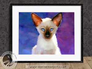 siamese cat artwork framed