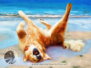 Life's A Beach - Golden Retriever Print