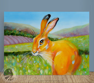 "Little Spring Hare - 12x9"" Oil Painting"