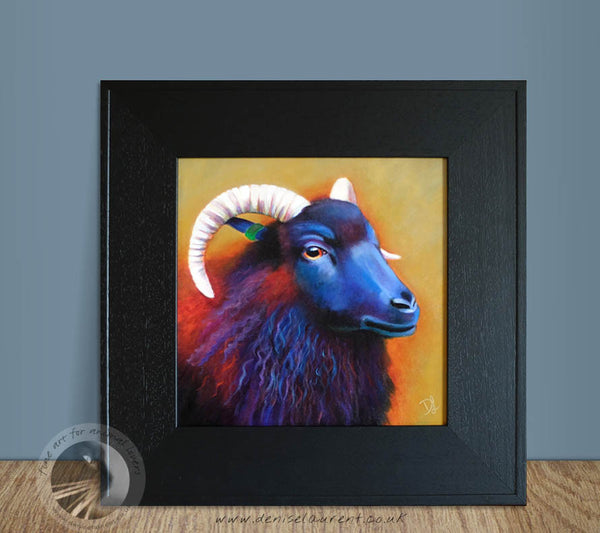 "Louisa - Black Sheep - 12x12"" Acrylic Painting"