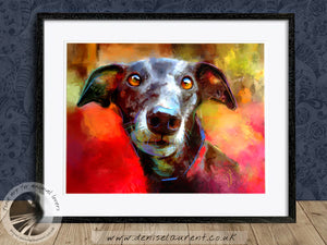 Milly Many Coats - Greyhound Dog Print