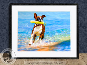 More Bounce For The Ounce - Boxer Dog Print