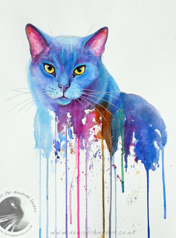 "Mr Blue 12x16"" Watercolour Painting"