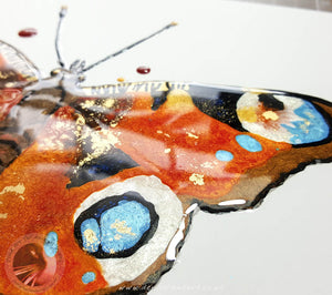 Peacock Butterfly - Resin Painting