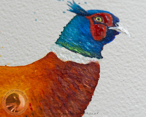 "Pheasant - 18""x12"" Watercolour Painting"