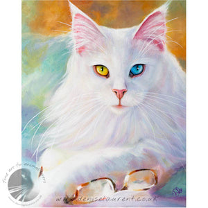 Reading Glasses - Maine Coon Cat Print