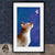 siamese cat framed wallart