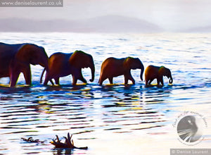 River Crossing - Elephant Print