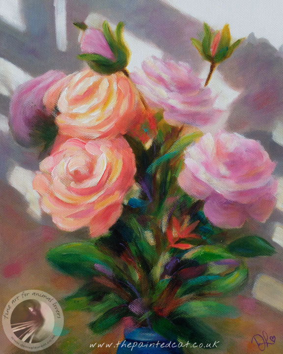 "Roses And Shadows 10x8"" Painting"