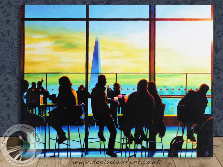 "Sky Garden - 20x16"" Cityscape Painting"