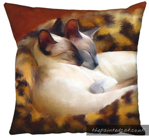 Sleeping Siamese Cat Cushion