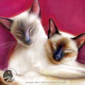 Sugar Plum Fairies - Siamese Cat Print