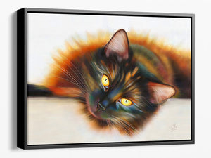 Sunbathing - Framed Canvas Print