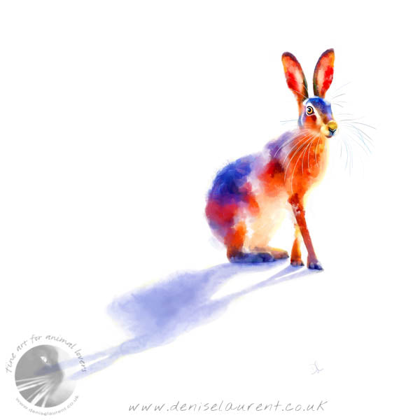 Sunlit Hare - Hare Print