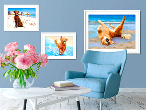 Life's A Beach - Golden Retriever Dog Print