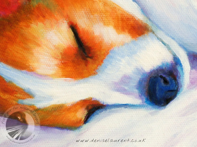 "Two Jack Russell Puppie -12x9"" Acrylic Painting"