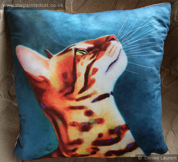 Whats Up Bengal Cat Cushion