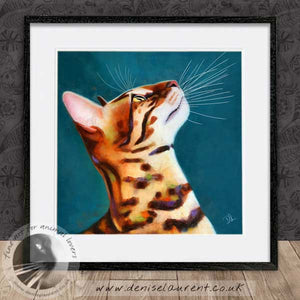 bengal cat portrait framed