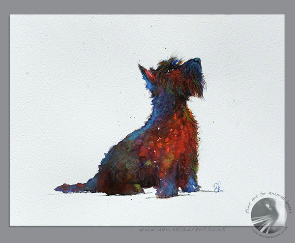 "Whisky - 10""x8"" Watercolour Painting"
