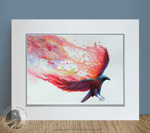 "Wings Of Fire - 16""x12"" Watercolour Painting"