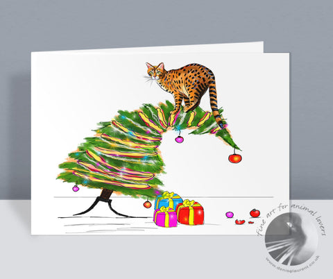 We Need A Bigger Tree! - Christmas Card