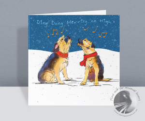 Ding Dong Merrily On High  - Christmas Card
