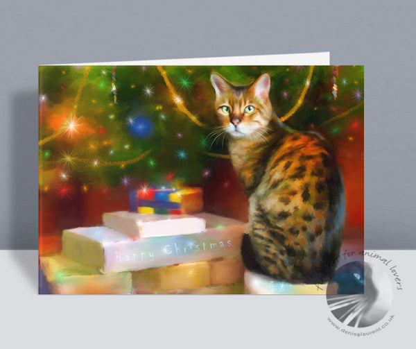 Bengal Gifts - Cat Christmas Card