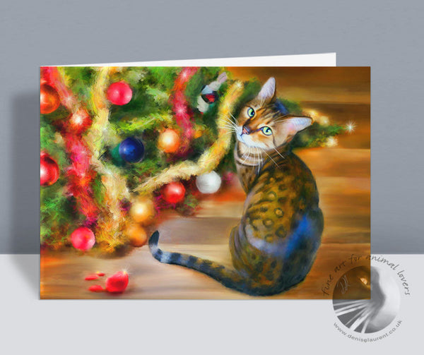 The Dog Did It! - Bengal Christmas Card