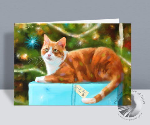 With Love - Cat Christmas Card