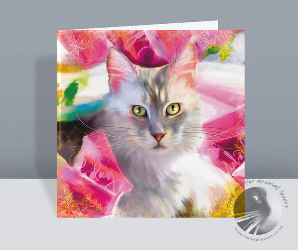 Wrapping Paper - Cat Christmas Card