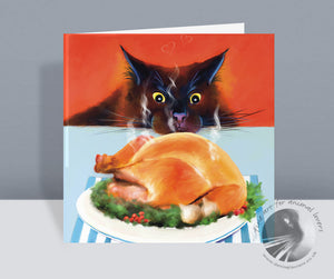 Temptation!!! - Cat Christmas Card