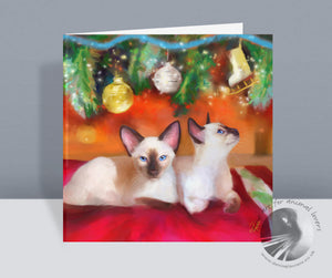 Christmas Baubles - Siamese Christmas Card