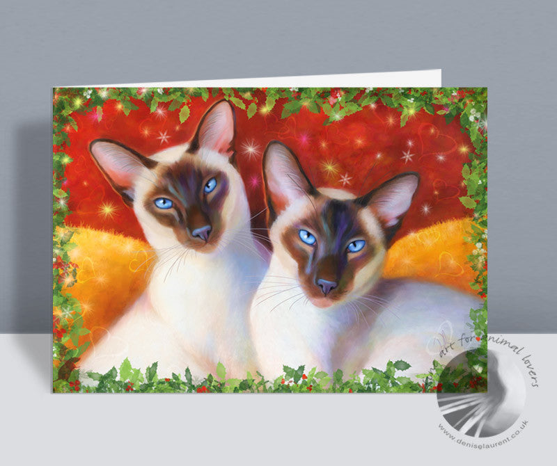 Christmas Chocolates - Siamese Christmas Card