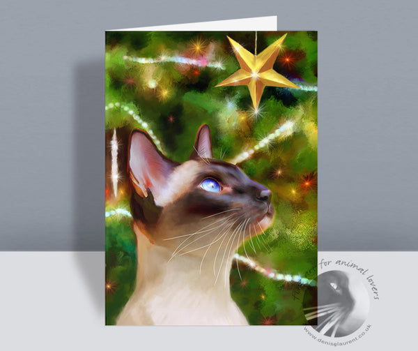 Starlight - Siamese Christmas Card