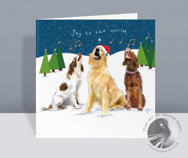 Joy To The World - Dog Christmas Card