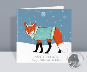 Festive Fox  - Christmas Card