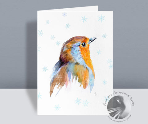 Robin Redbreast - Christmas Card