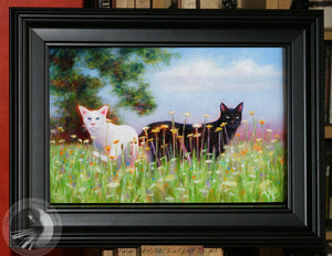 "Yin And Yang - 12""x8"" Framed Oil Painting"
